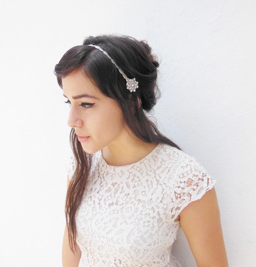 Silver Headband Wedding Hair Accessory Great Gatsby Prom 1920s Fler Costume Headpiece Bridesmaids Ties Party
