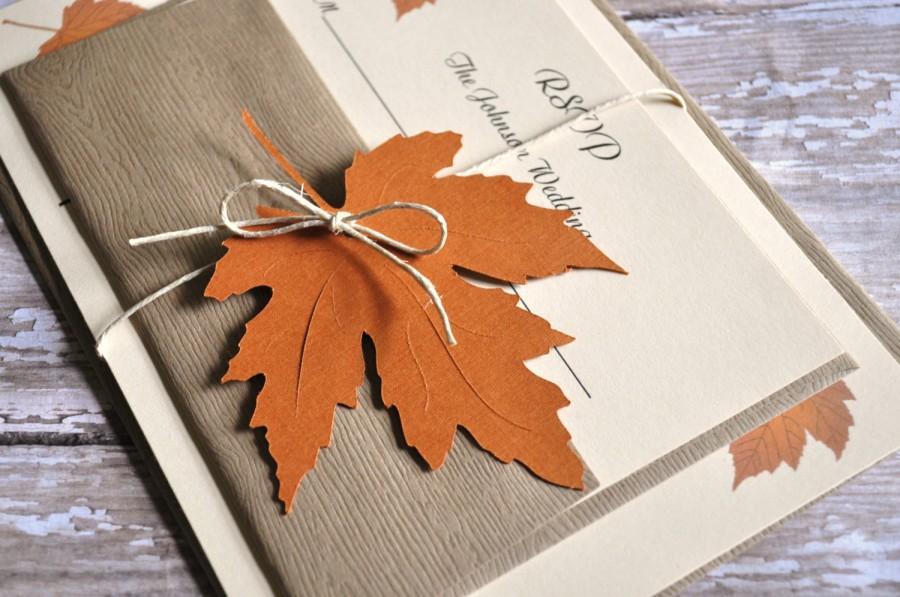 Fall Autumn Wedding Invitations Invites
