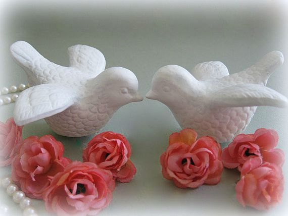 ceramic bird wedding cake toppers birds cake topper white wedding cake topper lovebirds 12487