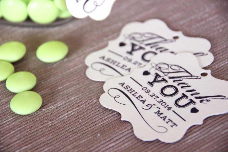 Wonderful Printable Wedding Favor Tag, Thank You Swing Tag // DIY Printable  PZ56