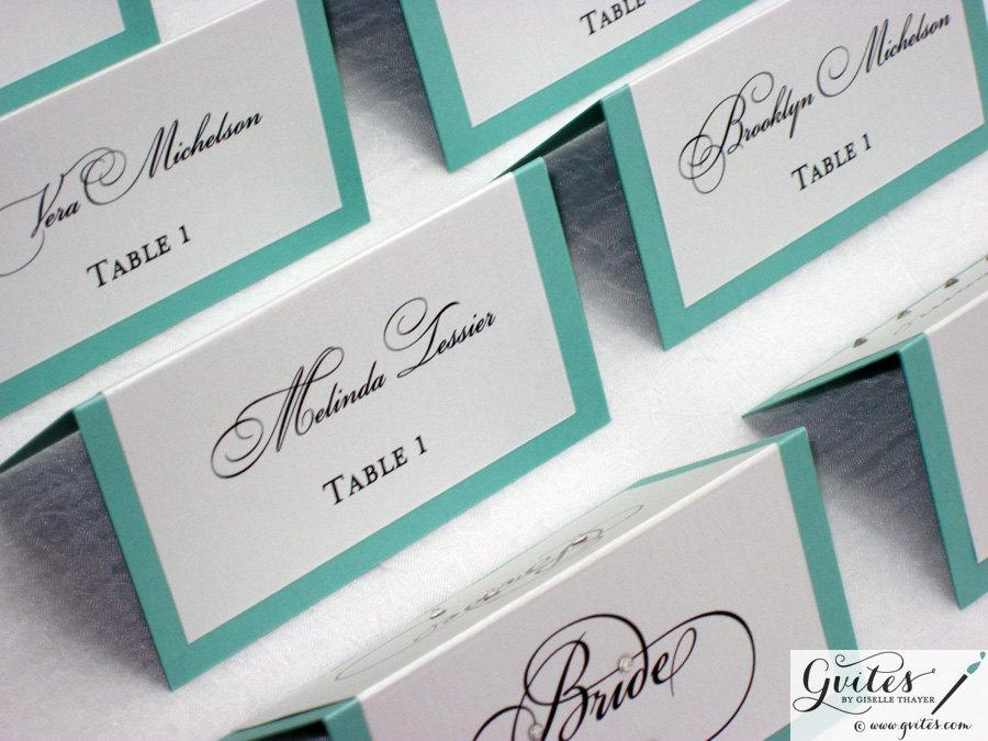 Double Sided Place Cards Tent Guest Wedding Printed Personalized More Colors Available