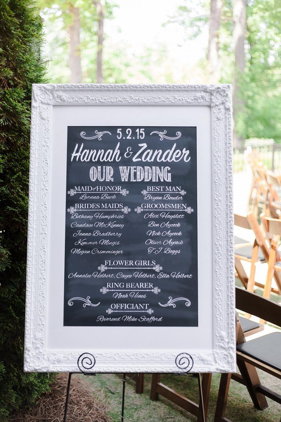 Wedding Programs Program Template Sign Party Chalkboard