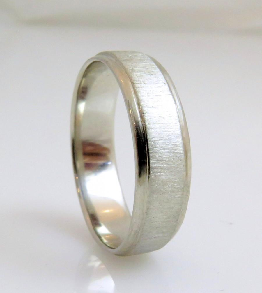 Excellent Gold Wedding Band, White Gold Wedding Band, Matte Gold Ring, 14k  IR65