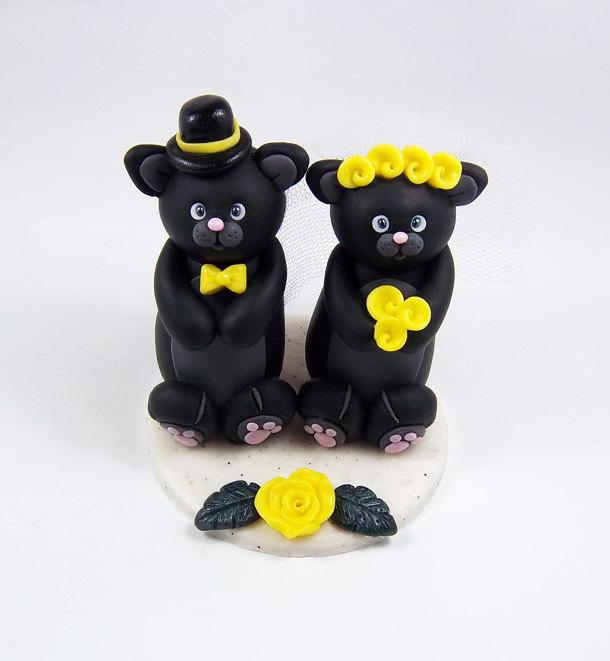 black cats wedding cake toppers cats cake topper custom cake topper personalized wedding 11858