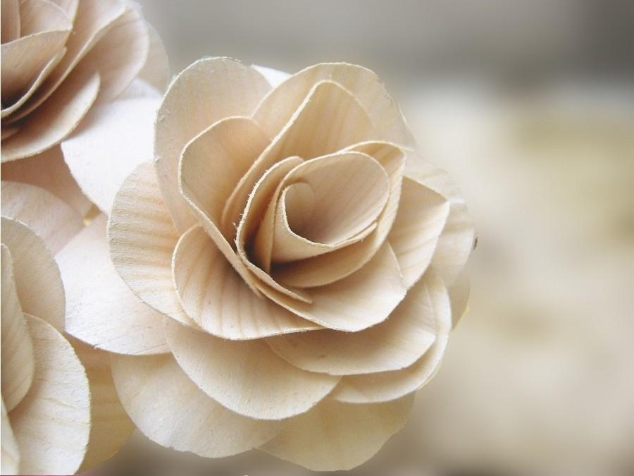 150 Pcs Creamy White Birch Wood Roses For Weddings Home Decorations Sbooking And Fl Arrangements