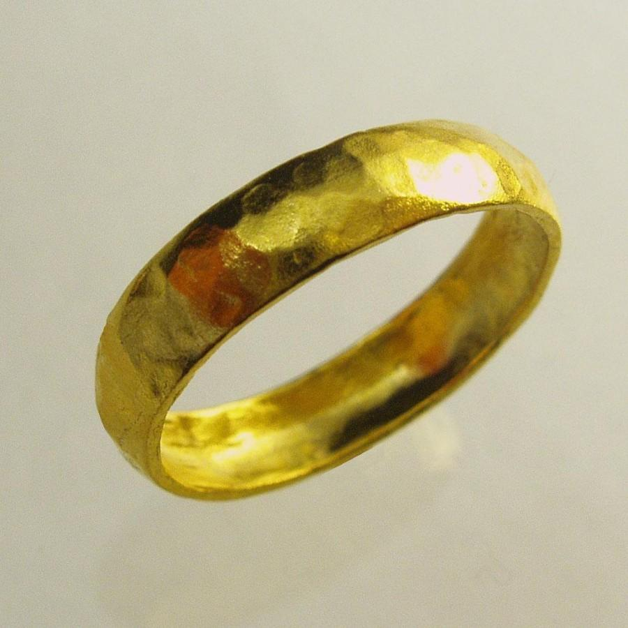 24 Karat Ring Uni Man Wedding Band Woman Pure Gold Recycled Made To Order