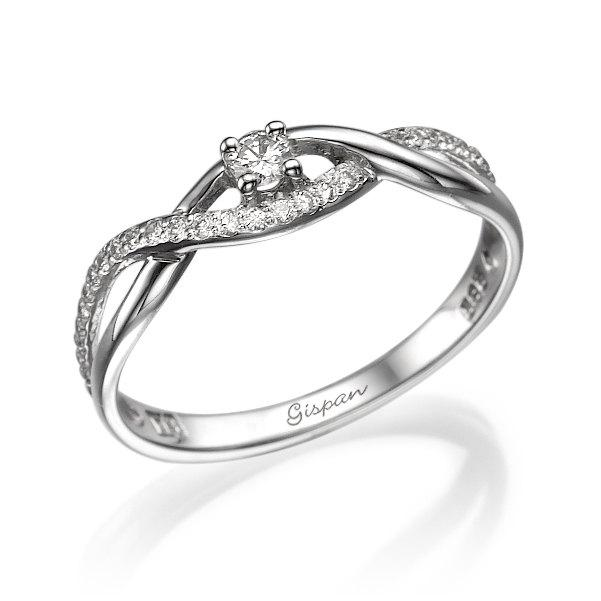 Infinity Engagement Ring Forever Love Diamond Wedding Band Knot