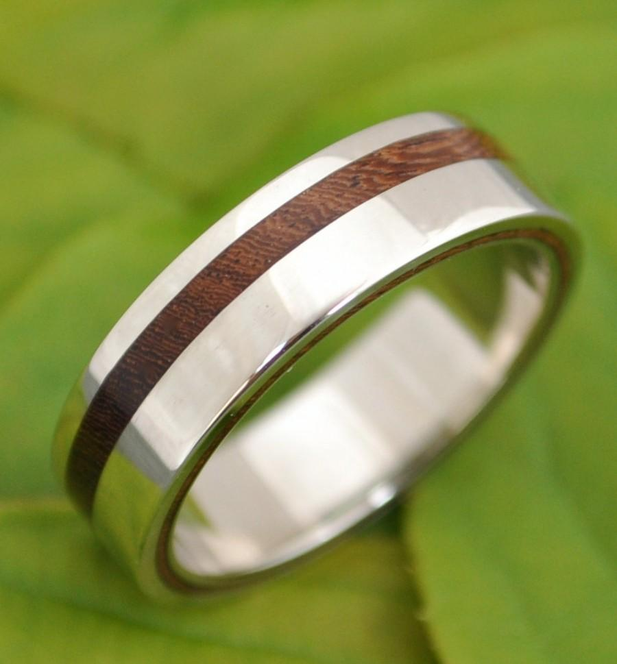 Equinox Nacascolo Wood Ring With Recycled Silver Ecofriendly Wedding Band Mens Women S