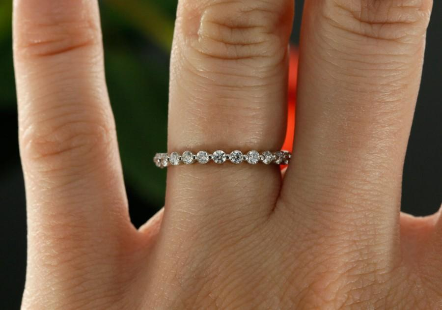 14k White Gold Eternity Diamond Wedding Band G Set Las Ring Also Available In Rose Yellow And Platinum