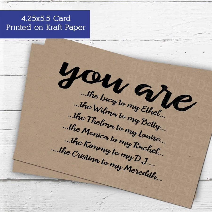 Will You Be My Maid Of Honor Card Or Matron Bridesmaid Funny Wedding Party Invitations Famous Best Friends