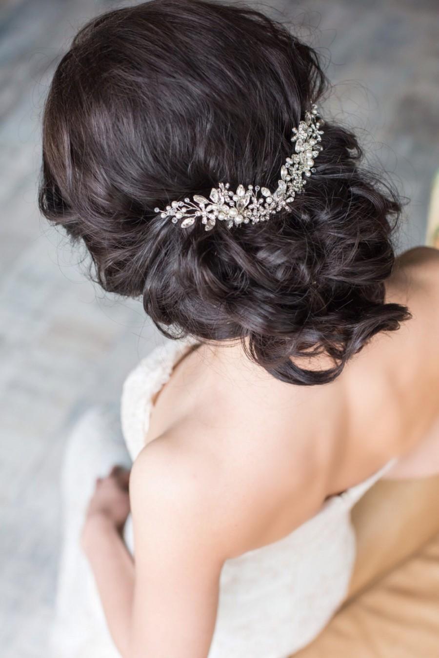 bridal hair comb crystal hair comb bridal headpiece bridal hair