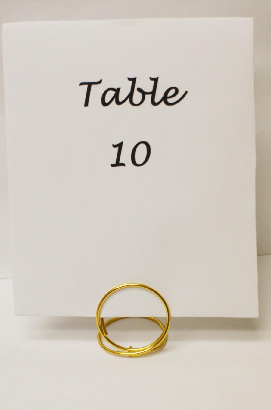 Gold Table Number Card Place Holders Large Menu