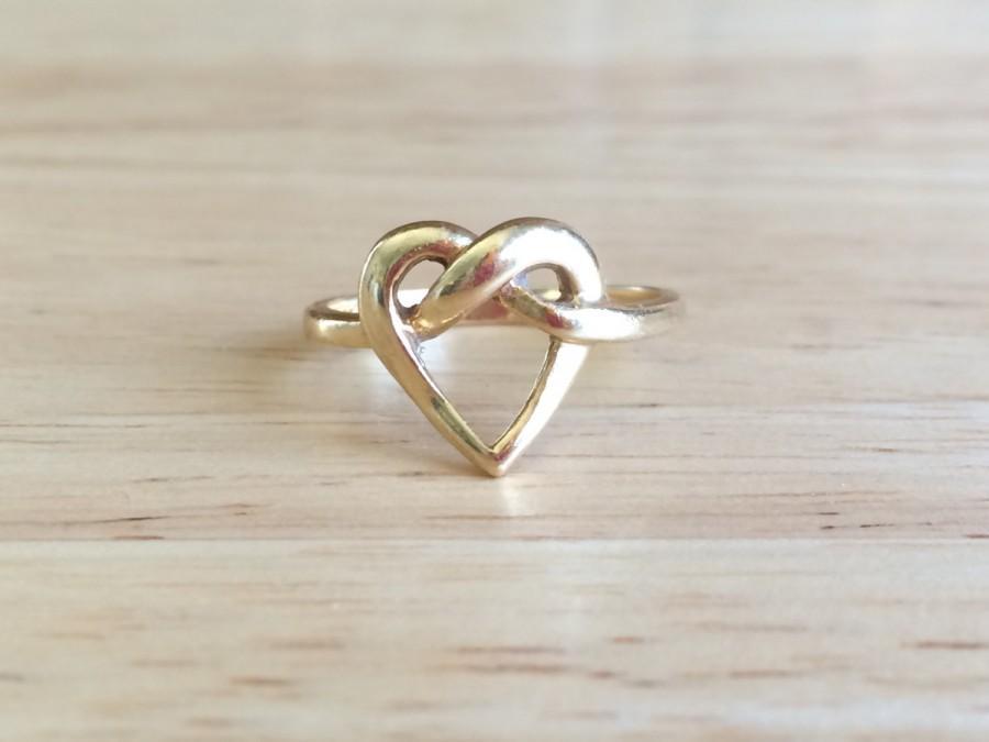 Antique Engagement Ring Art Nouveau 15kt Yellow Gold Heart Love