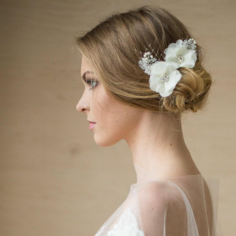 bridal hair accessories, flower bridal headpiece, bridal flower