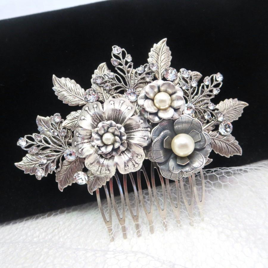 bridal hair comb, wedding headpiece, wedding hair accessory