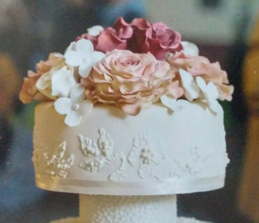 edible roses for wedding cakes 1 edible cake topper pieces ready to assemble 9 13914