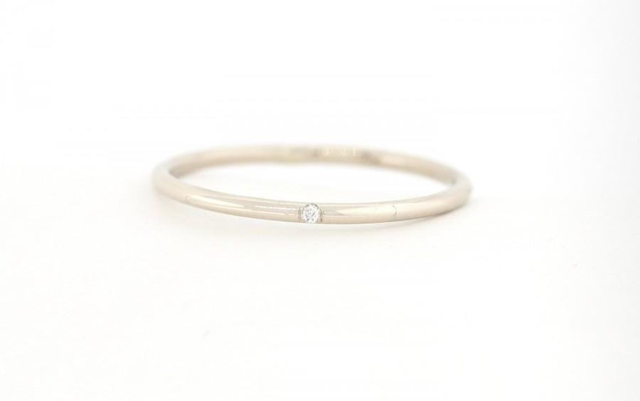 Diamond Wedding Band Set With One White Anniversary 14k Stackable Rings Stacking