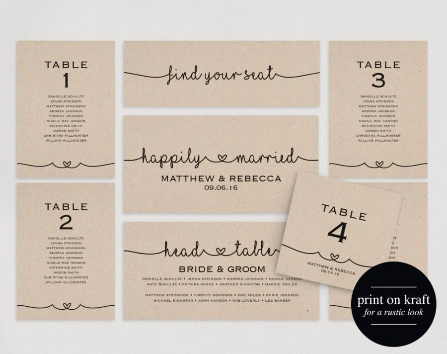Wedding Seating Chart Plan Template Diy Printable Pdf Table Cards Sign Instant