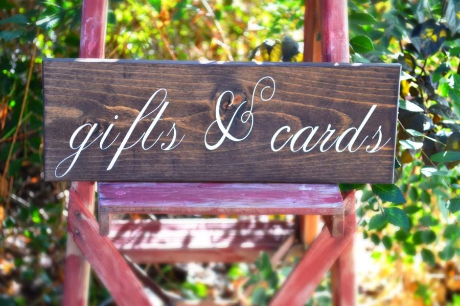 Gifts And Cards Sign Rustic Wedding Guest Table Gift Signage Country Decor
