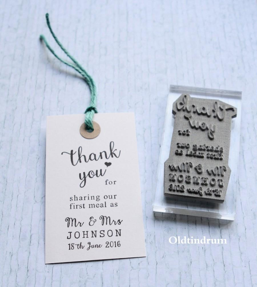 Wedding Stamp Thank You Uk First Meal Mr Mrs Custom Personalised Made