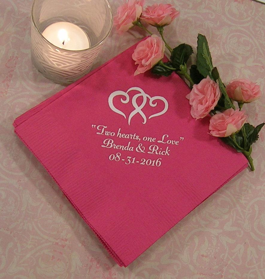 Wedding Napkins Personalized Tail Beverage Or Luncheon Size