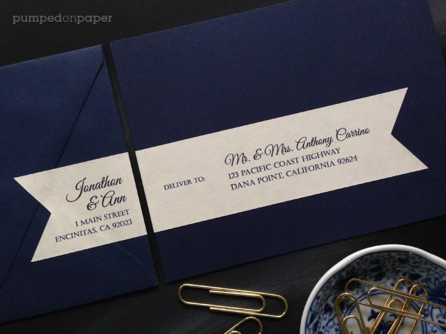 Personalized Mailing Address Labels For Wedding Invitations Customized Wraparound Return With Recipient Addressing Wla01