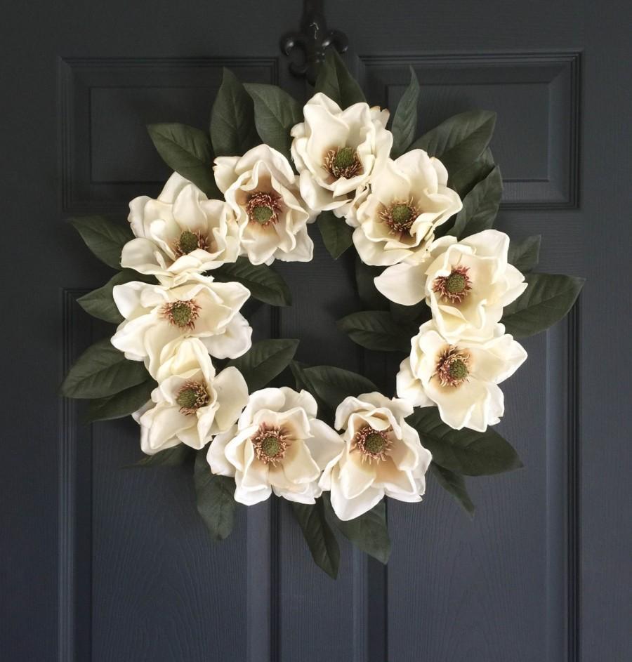 Blossoming Magnolia Wreath