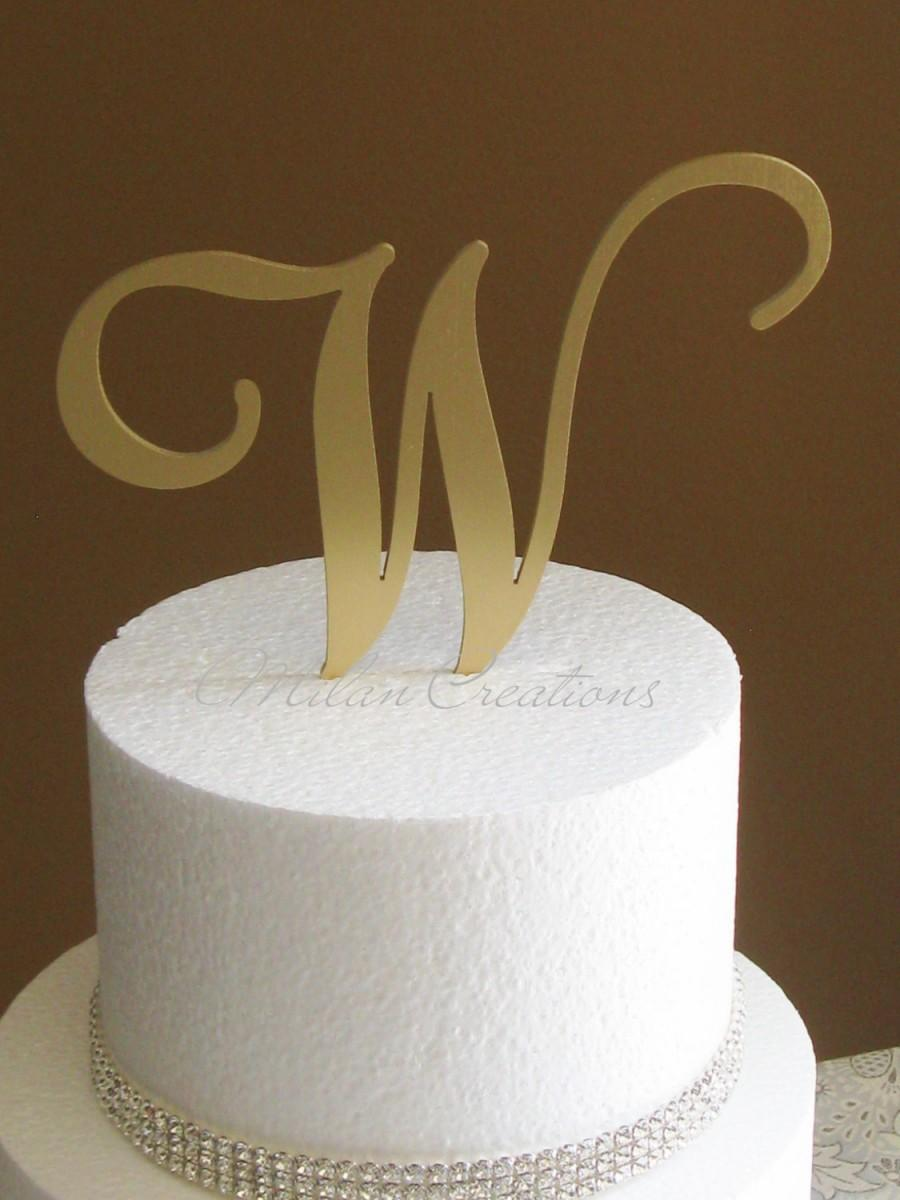 wedding cake toppers letters metallic gold metal monogram cake topper for wedding any 26517