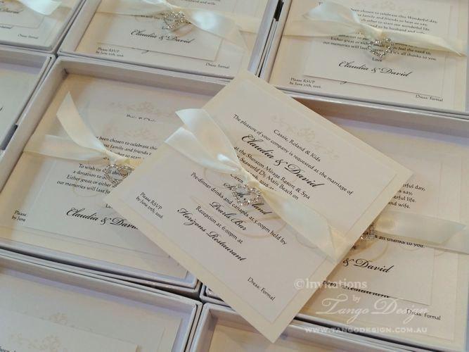 Crystal Wedding Invitations Elegant Invites W Bling Embellishment 1 Invitation Sample With Sparkle