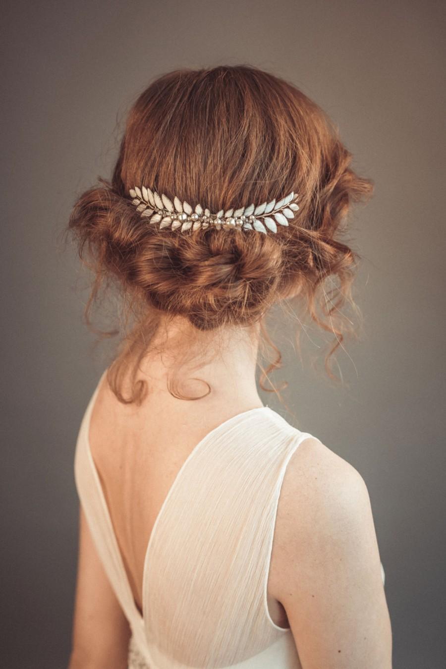 grecian bridal headpiece - leaf hairpiece - grecian hair piece