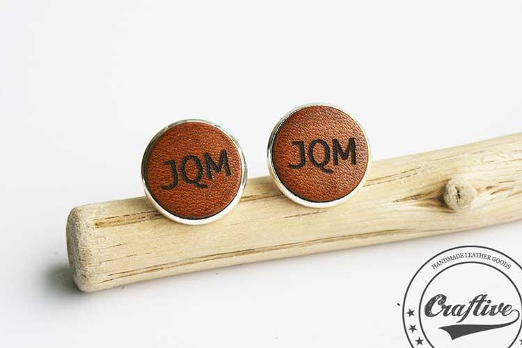 Custom Cufflinks Engraved Monogram Cuff Links Leather Anniversary 9th S Best Men Gift Ideas