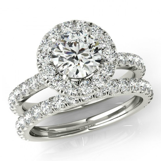 1 50 Ct Forever One Moissanite And Diamond Wedding Set Bridal Sets For Women Engagement Rings