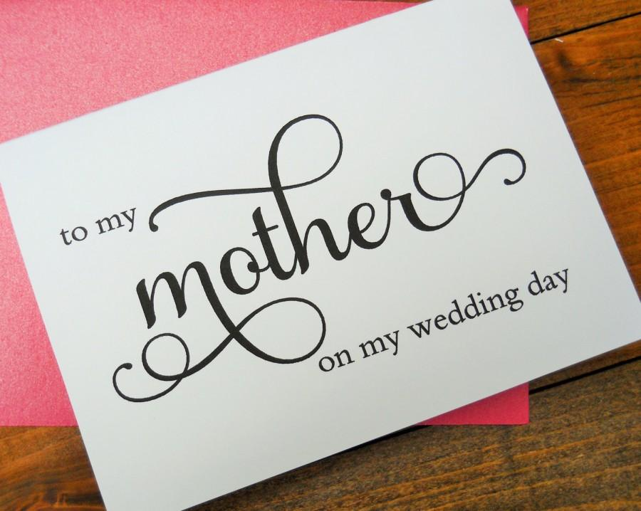 To My Mother On Wedding Day Card Shimmer Envelope Of The Bride Stationery Note