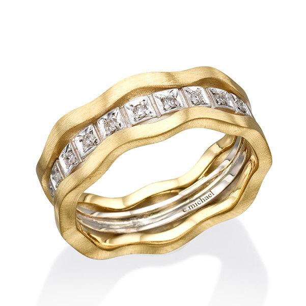 Diamonds Rings 14k Gold Ring 14k White And Yellow Gold Ring