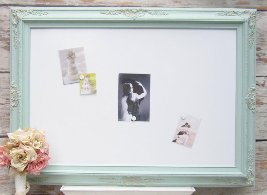 Large Framed Whiteboard Art Nursery Board Seafoam Green 44 X32 Dry Erase Magnetic White Extra