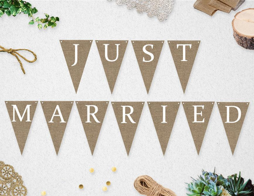 Famous Printable Just Married Banner INSTANT DOWNLOAD // Wedding // Photo  WU86