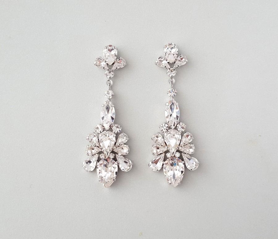 Wedding Earrings Chandelier Gatsby Vintage Crystal Earring Art Deco Bridal Jewelry Caprice