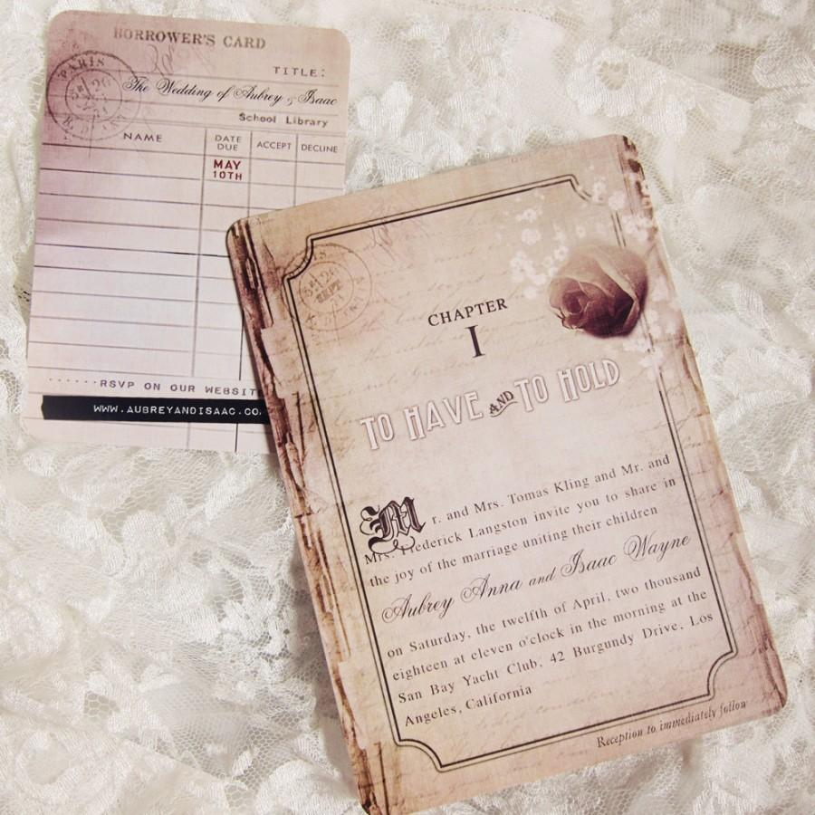 Book Wedding Invitations Story Romance Chapter One