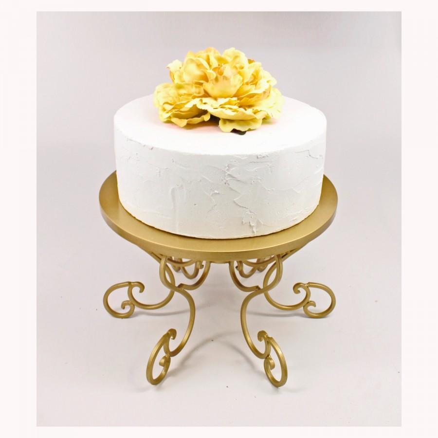 Gold Cake Stand Wedding Swirl Pedestal Cupcake Display Plate Table Decor Dessert
