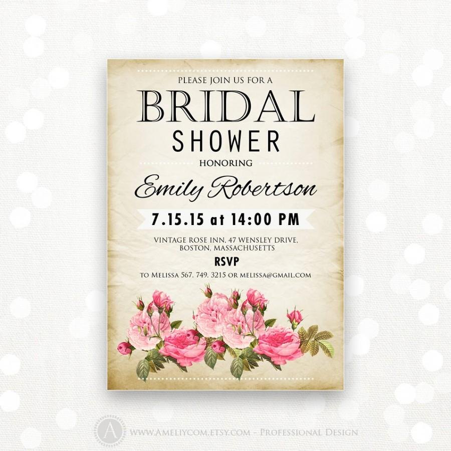 This is a picture of Printable Bridal Shower Invitations regarding bride