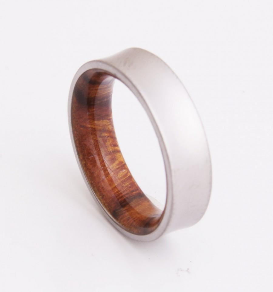 Anium And Iron Wood Mens Rings Wedding Band Men S Curved