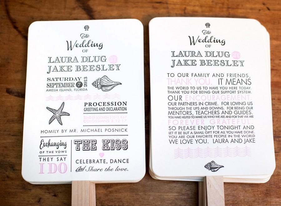 Diy Wedding Program Fan Kit Order Of Service Fans Kraft Paper