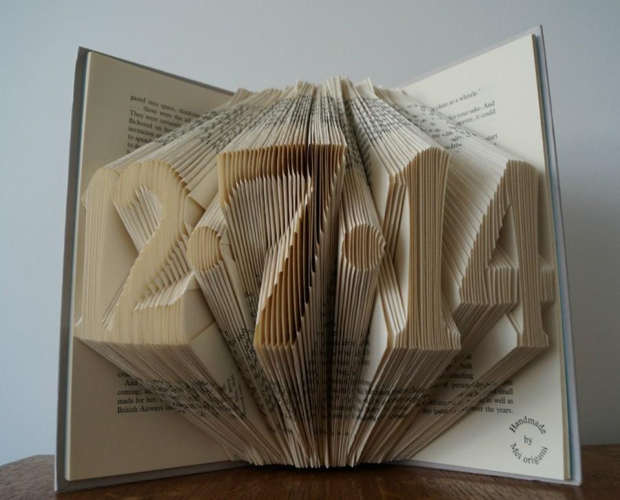 21st Birthday Gift Wedding Date Annoucement Engagement Birth 5 Numbers Folded Book Art Made To Order
