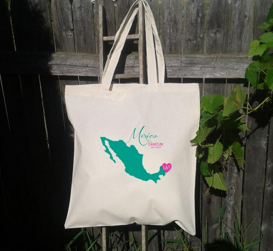 20 Wedding Welcome Bags Personalized Tote Destination Mexico Cancun