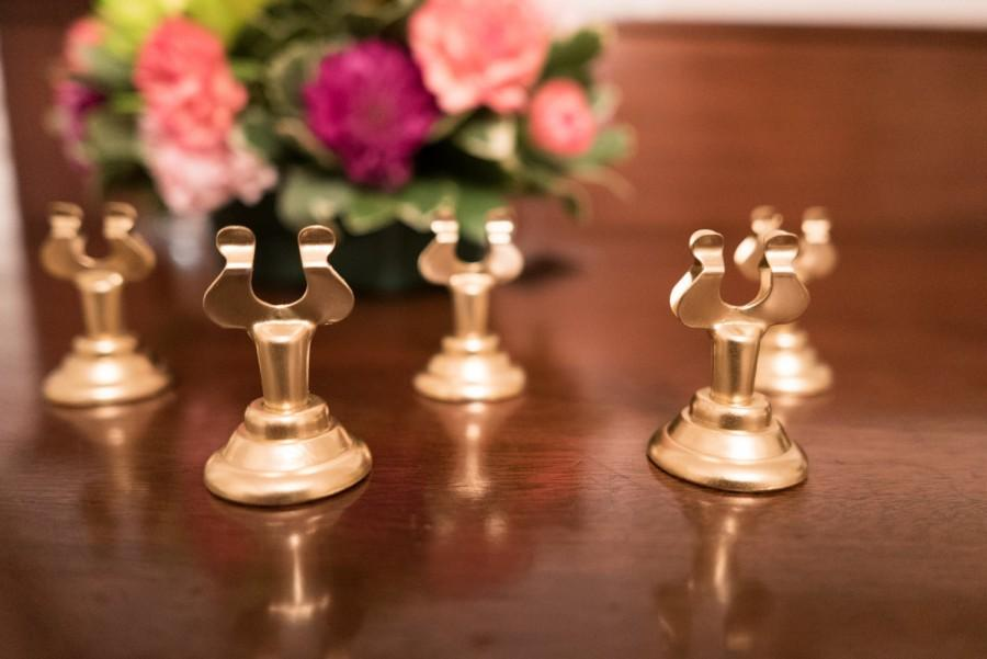 Set Of 12 Gold Table Number Holders
