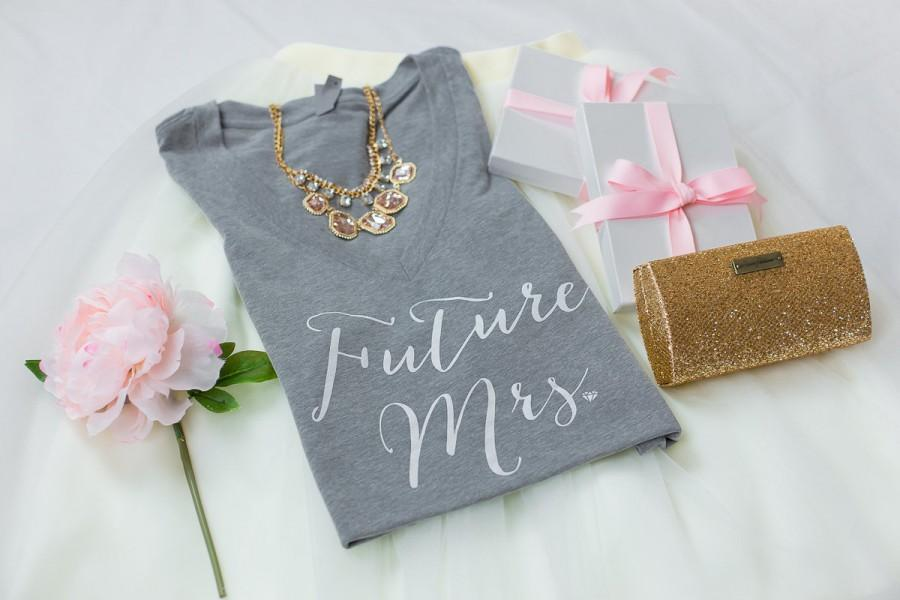 Future Mrs Bride Shirt Tee Wifey To Be T V Neck Gifts For Bridal Shower Gift Bachelorette Party
