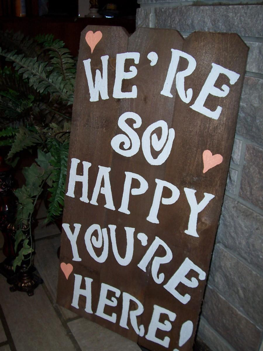 Welcome Sign Wedding Signs Beach Rustic Wood Decoration Birthday Outdoor Baby Shower