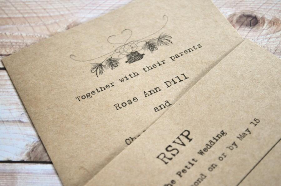 Fishing Wedding Invitations Fly Invites Camo
