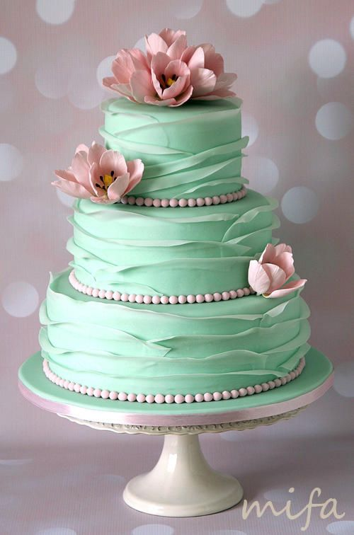 ruffled wedding cakes cake mint ruffle wedding cake 2530851 weddbook 19458