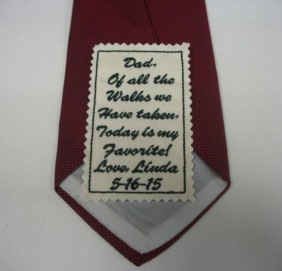 Embroidered Tie Patch Father Of The Bride Wedding Gift For Groom Stepdad Uncle Brother Personalized Embroidery A11